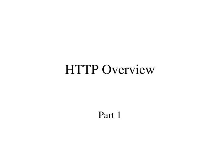 http overview n.