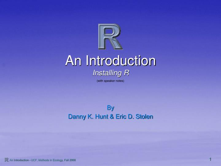 an introduction n.