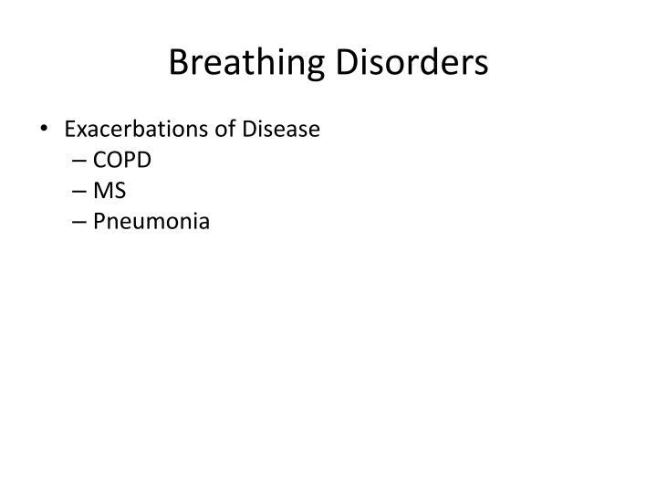 Breathing Disorders