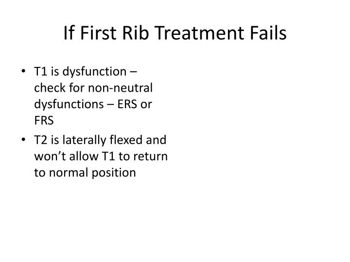 If First Rib Treatment Fails