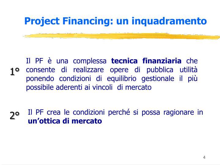 Project Financing: un inquadramento