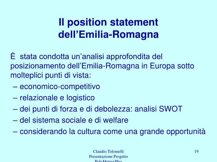 Il position statement