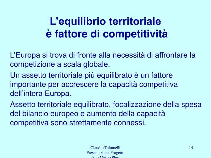 L'equilibrio territoriale