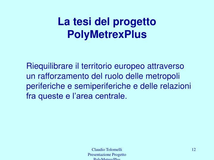 La tesi del progetto PolyMetrexPlus