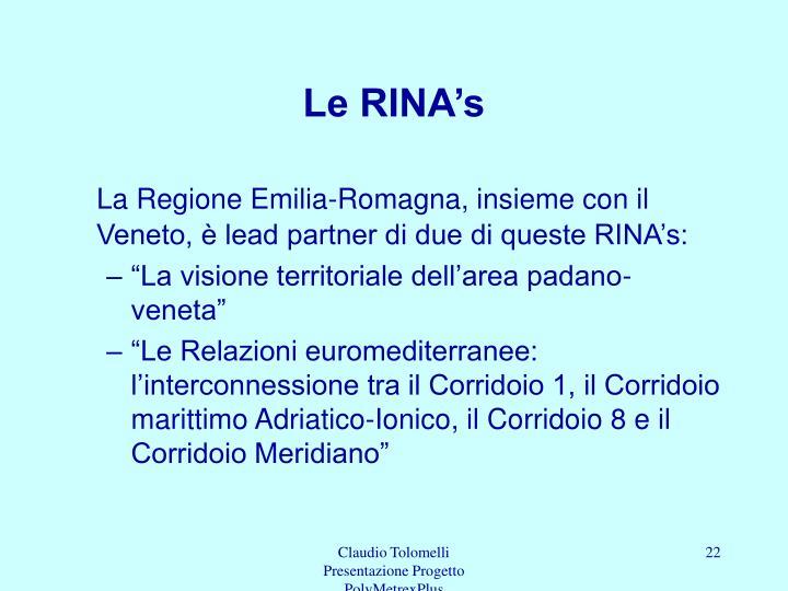 Le RINA's