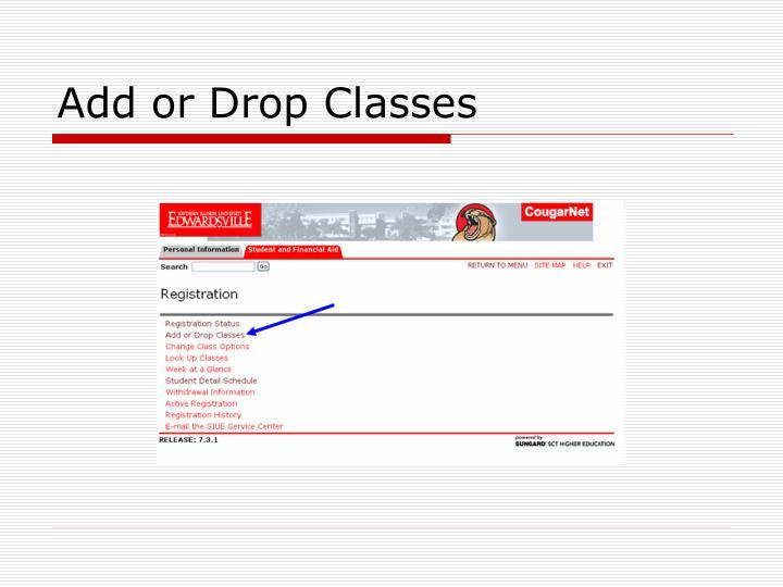 Add or Drop Classes