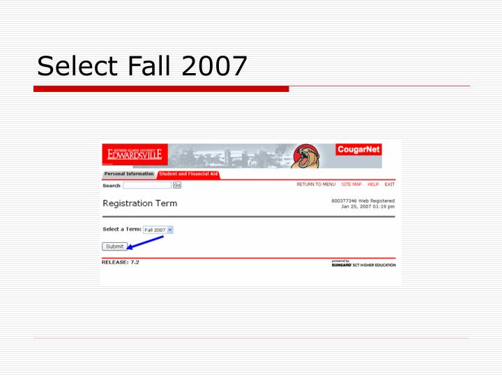 Select Fall 2007