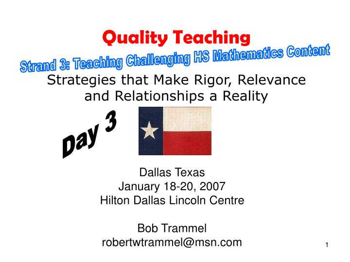 quality teaching strategies that make rigor relevance and relationships a reality n.