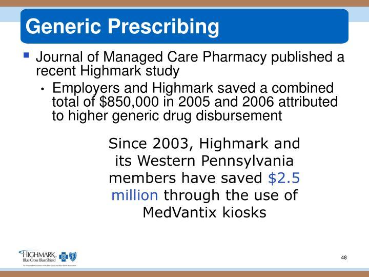Generic Prescribing