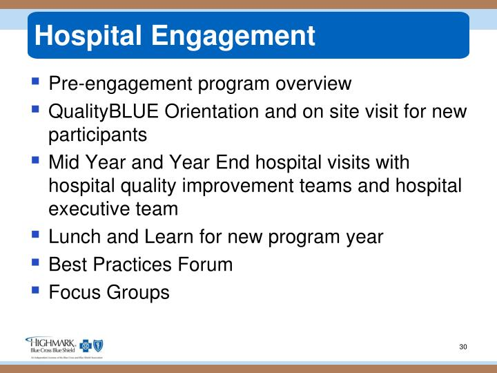Hospital Engagement