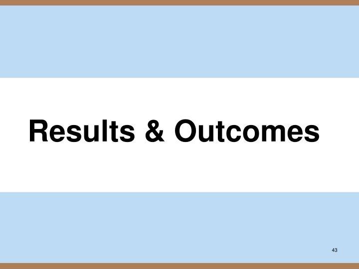 Results & Outcomes