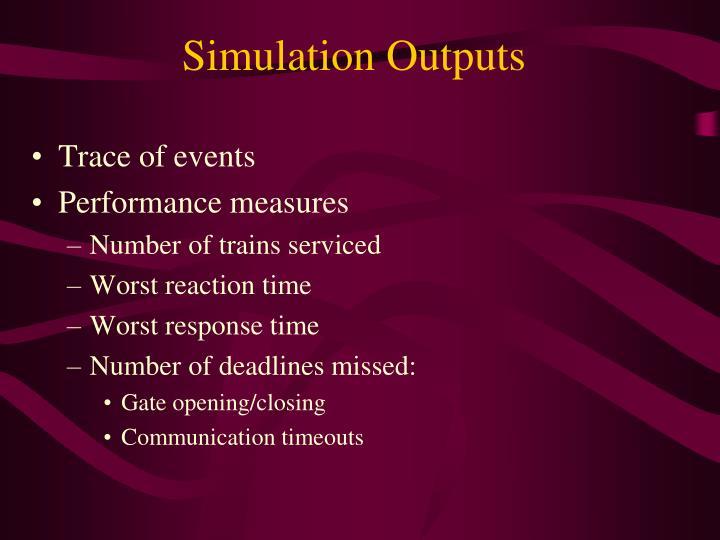 Simulation Outputs