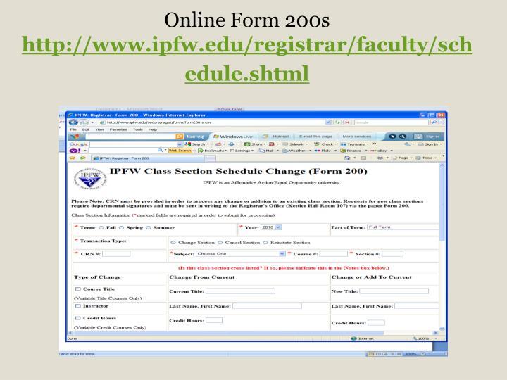 Online Form 200s