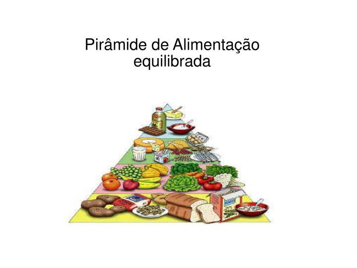 Pirâmide de Alimentação equilibrada