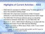 highlights of current activities ieee