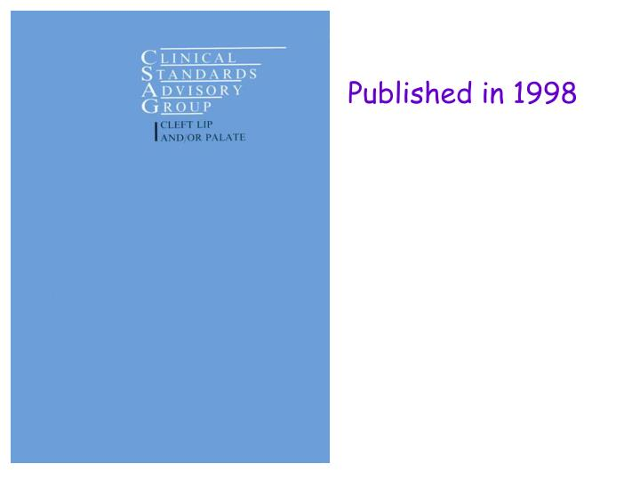 Published in 1998