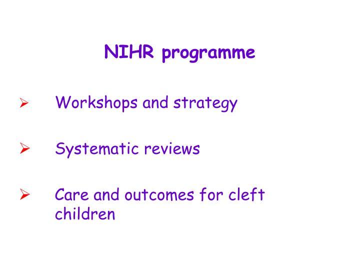 NIHR programme
