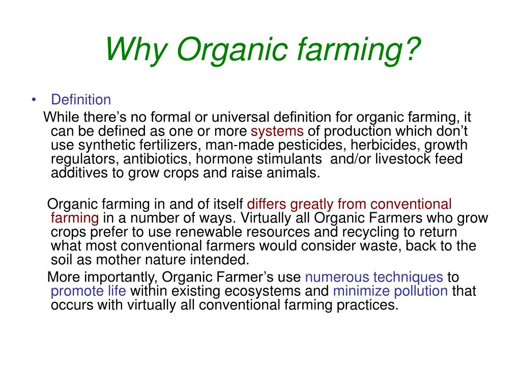 ppt - why organic farming? powerpoint presentation - id:4003154