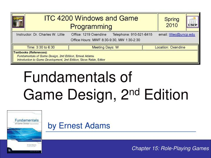 fundamentals of game design 2 nd edition n.