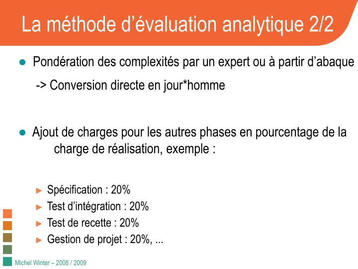 La m thode d valuation analytique 2 2