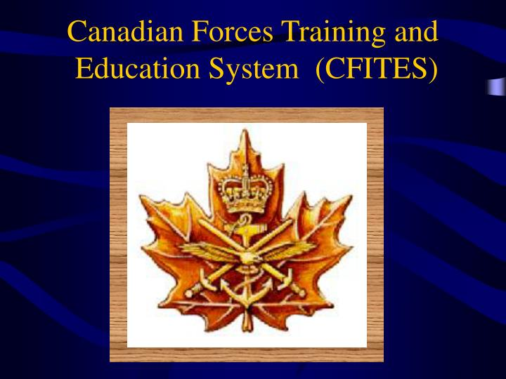 canadian forces training and education system cfites n.