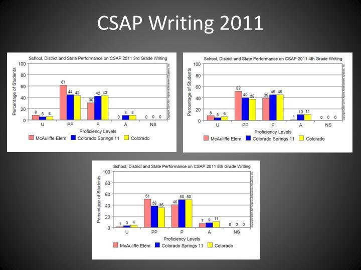 CSAP Writing 2011