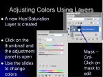 adjusting colors using layers1