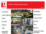 other waste diversion