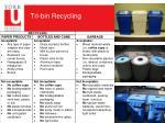 tri bin recycling