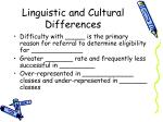 linguistic and cultural differences