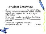 student interview