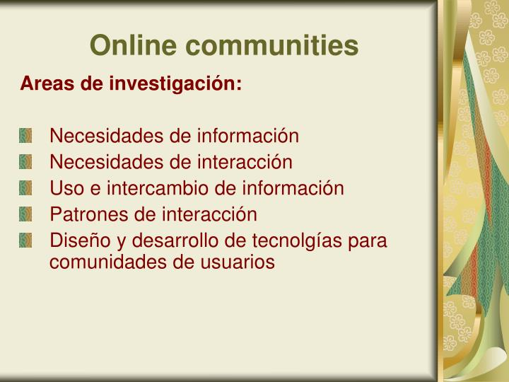 Online communities