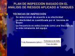plan de inspecci n basado en el an lisis de riesgos aplicado a tanques1