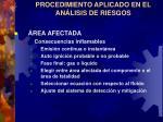 procedimiento aplicado en el an lisis de riesgos11