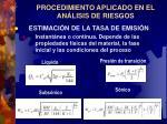 procedimiento aplicado en el an lisis de riesgos7