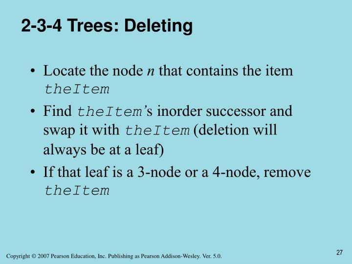 2-3-4 Trees: Deleting