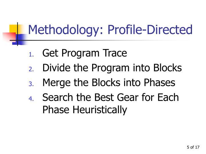 Methodology: Profile-Directed