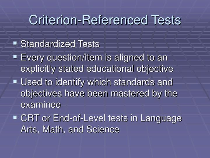 Criterion Referenced Instruction (Robert Mager ...