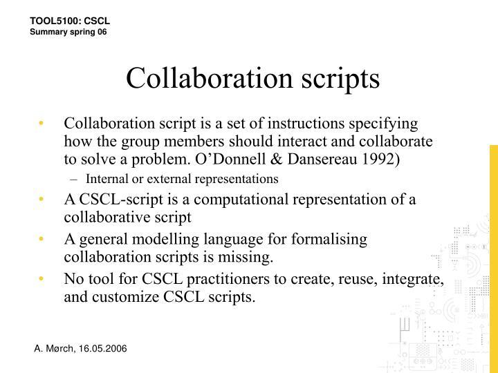 Collaboration scripts