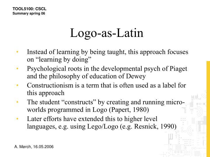 Logo-as-Latin
