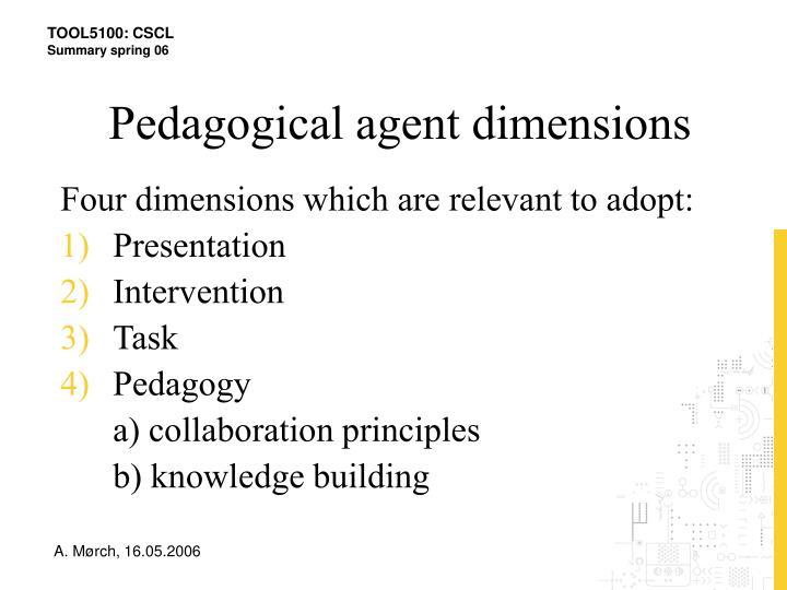 Pedagogical agent dimensions