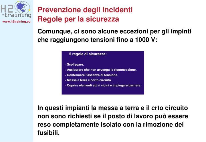 Prevenzione degli incidenti
