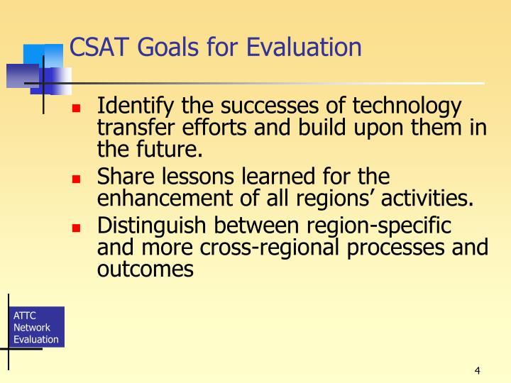 CSAT Goals for Evaluation