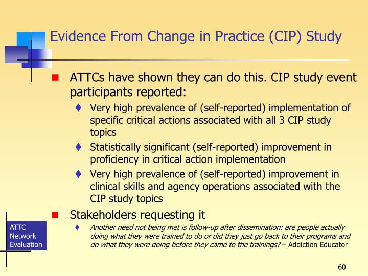 Evidence From Change in Practice (CIP) Study