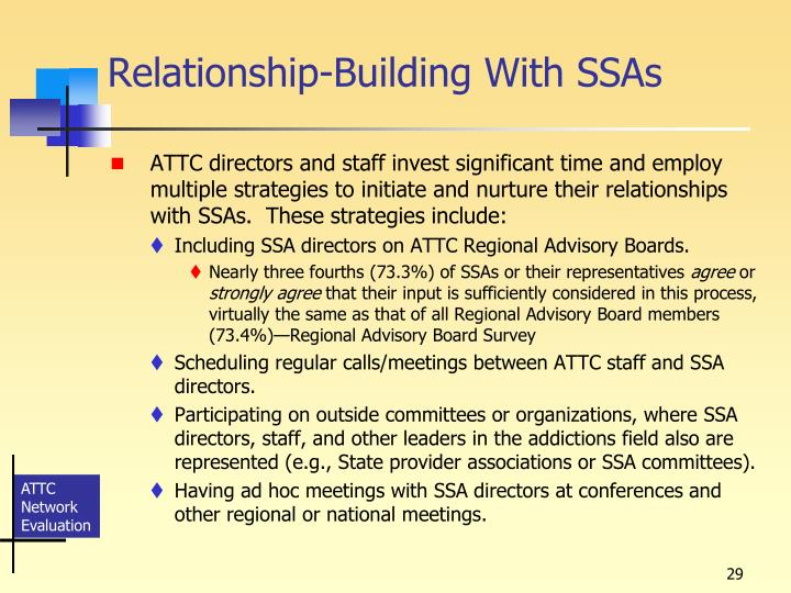 Relationship-Building With SSAs