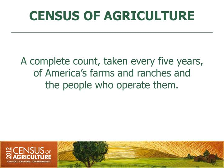 Census of agriculture