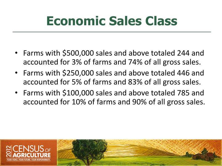 Economic Sales Class