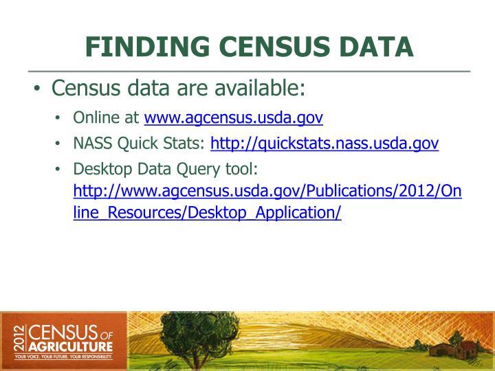 FINDING CENSUS DATA