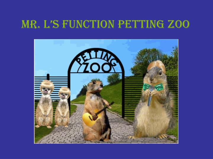 mr l s function petting zoo