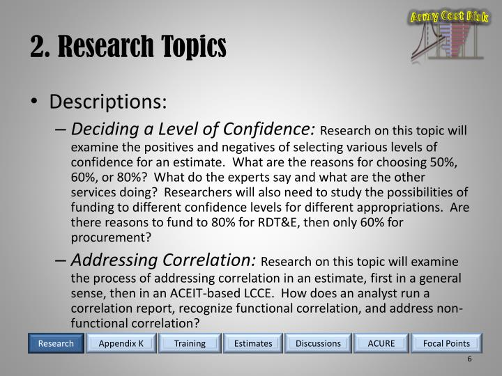 2. Research Topics